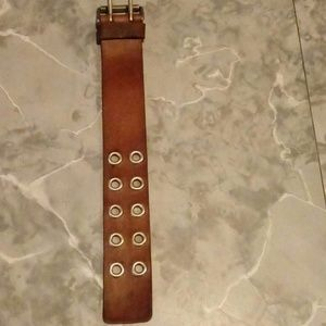 American Eagle Leather Buckle Wristband